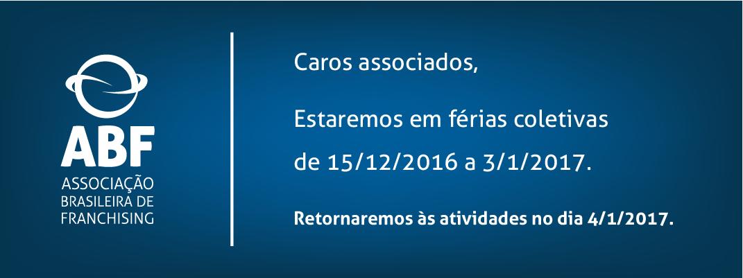 Férias Coletivas ABF 2016