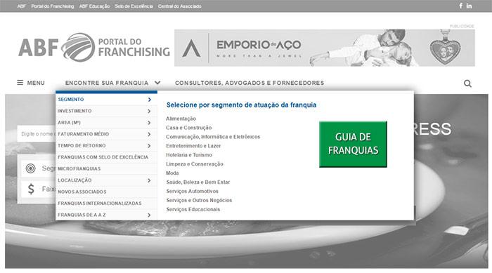 Espaços de Publicidade no Portal do Franchising