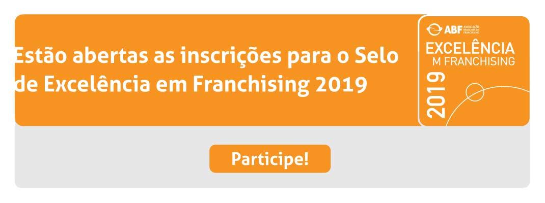 Selo de Excelência em Franchising 2019