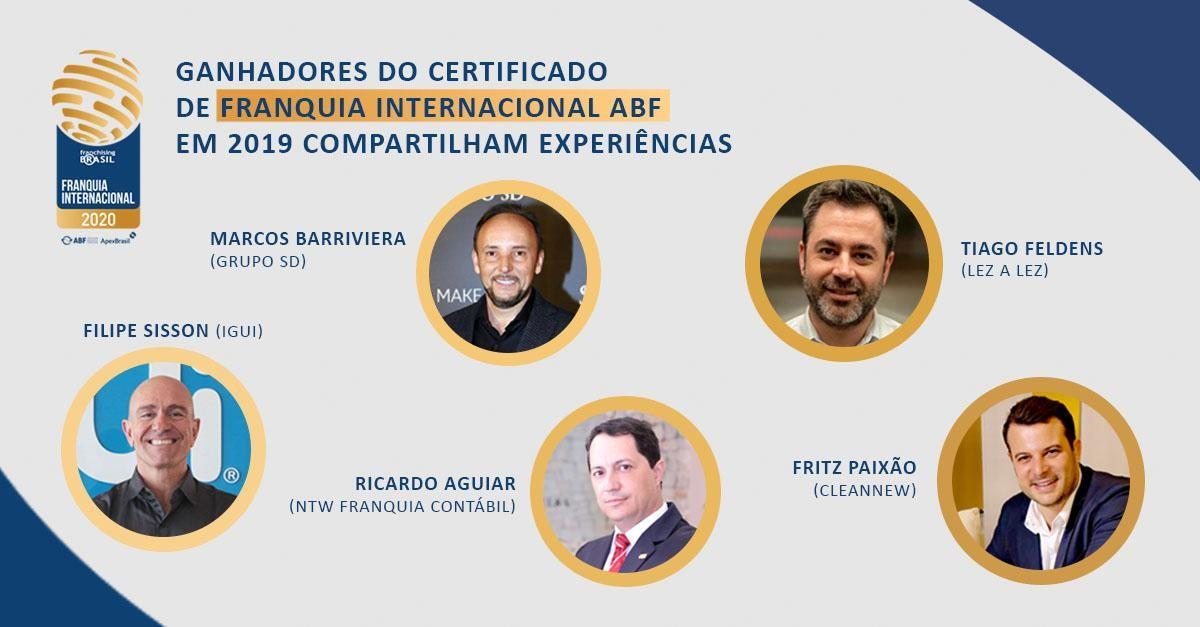 Certificado de Franquia Internacional ABF: ganhadores de 2019 compartilham experiência