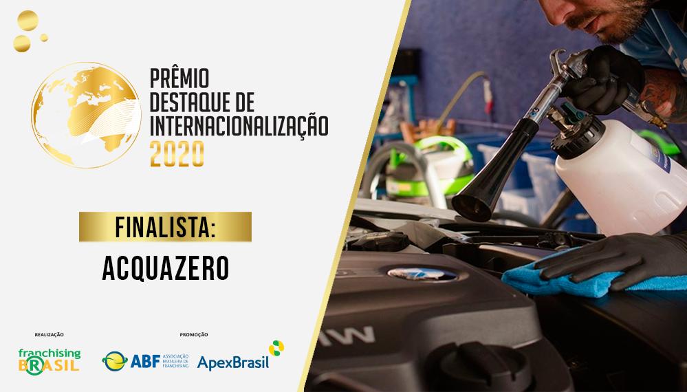 Operação norte-americana da Acquazero concede à marca vaga na final do Prêmio Destaque de Internacionalização