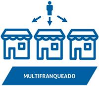 Multifranqueado ícone